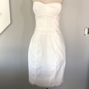 Fitted white cocktail dress